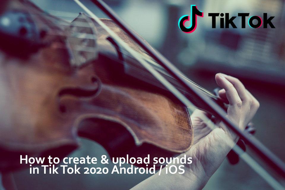 Sounds in Tik tok