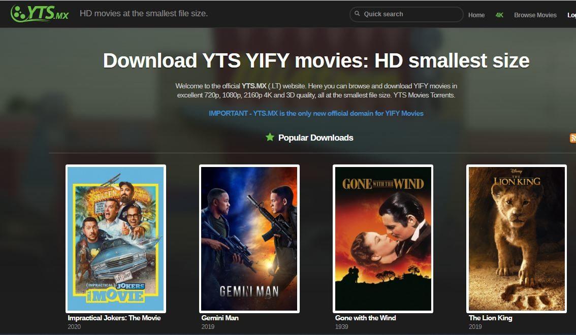 YIFY YTS proxy