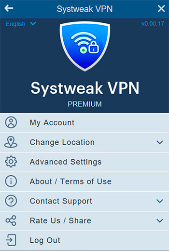 Systweak VPN Settings