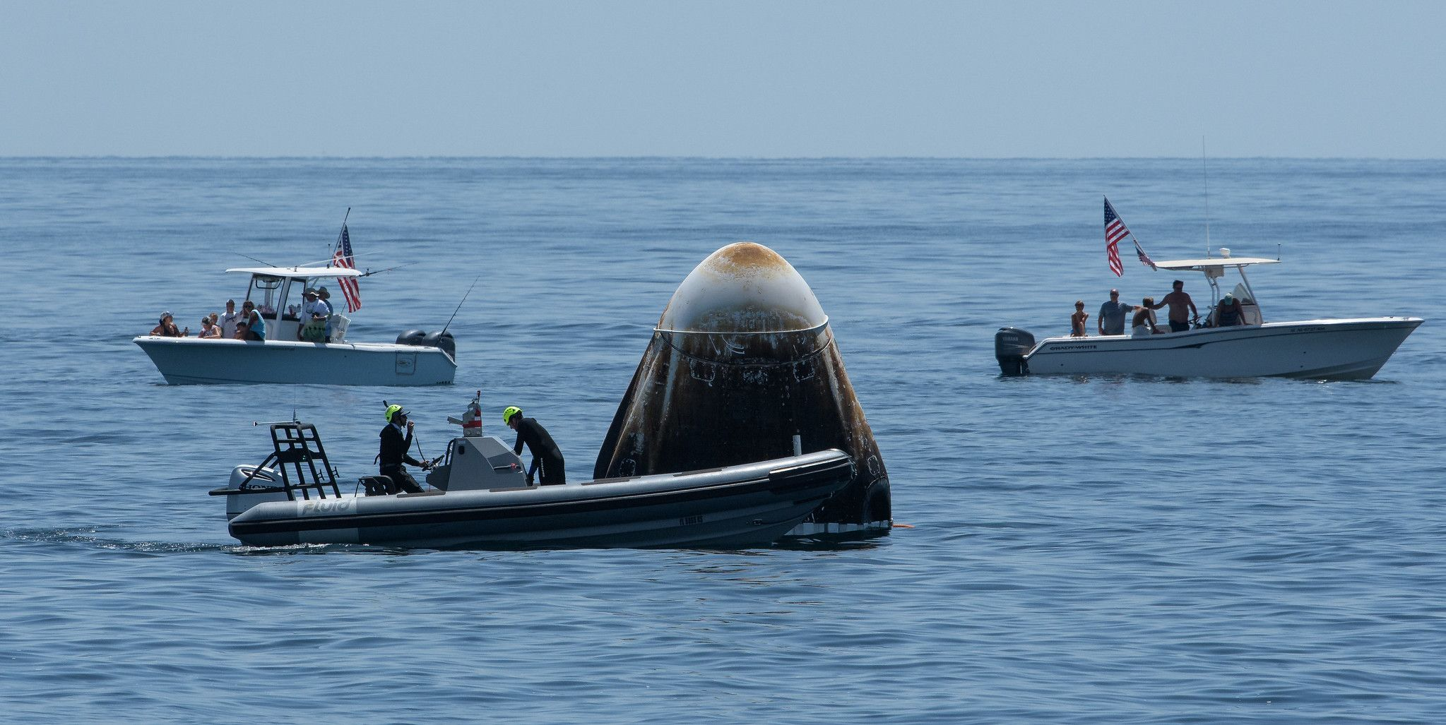 Astronauts of NASA-SpaceX Mission Splash Down Creating History