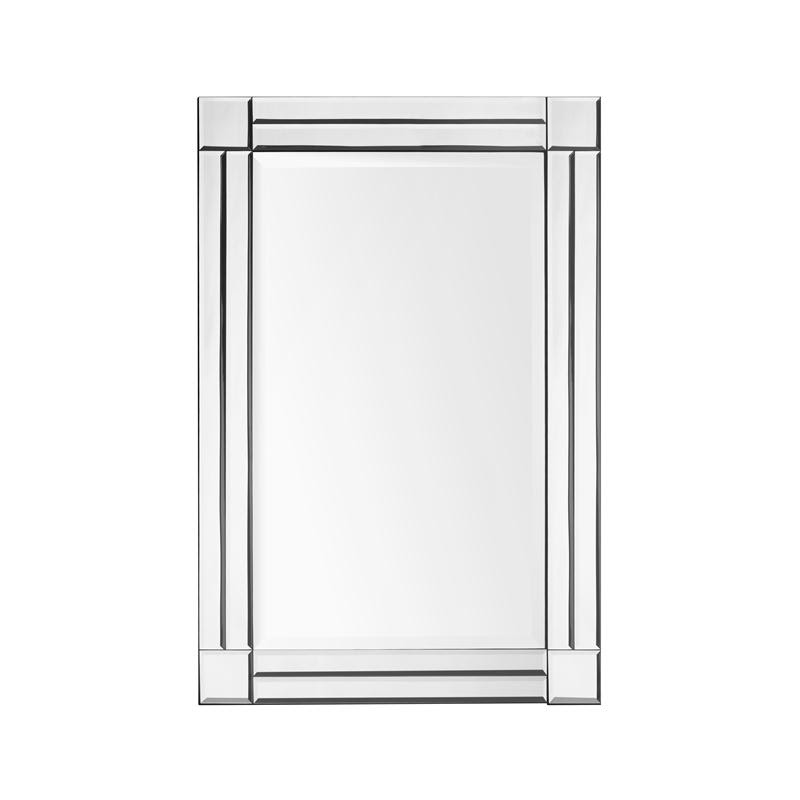 Beveled edge bathroom mirror